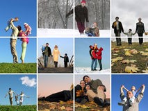 The year round family 2 Stock Photo