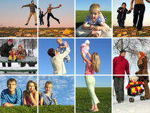 The year round family Royalty Free Stock Image
