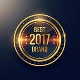 Year`s best brand golden label badge label vector design. Vector Stock Photography
