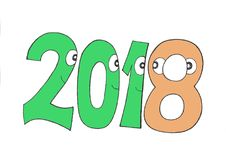 THIS YEAR`S ICON. YEAR EIGHT ORANGE. Royalty Free Stock Images