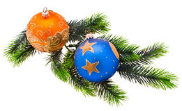 Year's tree ornaments Royalty Free Stock Image