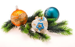 Year's tree ornaments Stock Photo
