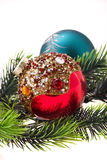Year's tree ornaments Royalty Free Stock Photo