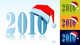 Year with santas cap Royalty Free Stock Photo