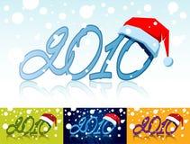 Year with santas cap Royalty Free Stock Images