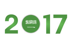Year 2017 with Saudi Arabia Flag Royalty Free Stock Images