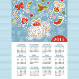 Year of the sheep calendar. Year of the sheep 2015 calendar vector illustration royalty free illustration