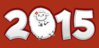 Year of the Sheep 2015 Chinese Zodiac Vector. Drawing of the 2015 Chinese zodiac symbol Royalty Free Stock Image