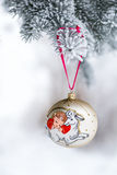 Year of the Sheep Christmas bauble Stock Image