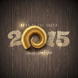 Year of a sheep greeting illustration Royalty Free Stock Image