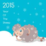 2015 Year Of The Sheep. Vector Illustration Royalty Free Stock Image