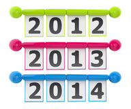 Year sign modern style. 2012 year sign modern style Royalty Free Stock Photos