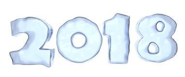 2018 year ice text Stock Photo