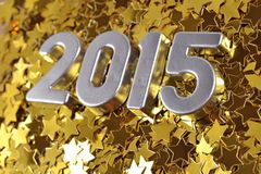 2015 year silver figures Royalty Free Stock Images