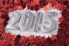 2015 year silver figures Stock Photography