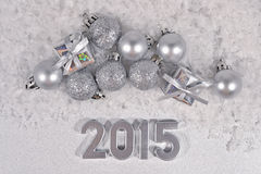 2015 year silver figures Stock Photo