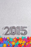 2015 year silver figures Royalty Free Stock Photo