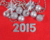2015 year silver figures Stock Photos