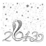 Year of the Snake 2013. Chinese, sketch. Vector illustration Royalty Free Stock Photos