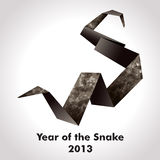 Year of the Snake. Design. Origami vector illustration