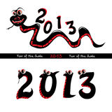 Year of the snake. Vector illustration Stock Images