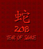 Year of snake. Royalty Free Stock Photo