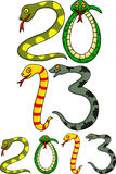 Year of snake. Illustration of year of snake Royalty Free Stock Photography