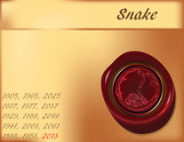 Year of Snake - background Stock Images