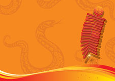 Year of Snake background design element Royalty Free Stock Images