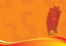 Year of Snake background design element vector illustration