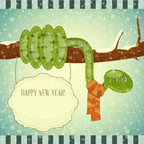 Year of the snake card Royalty Free Stock Photography