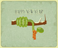 Year of the snake card Royalty Free Stock Photo