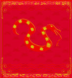 Year of Snake design for Chinese New Y Royalty Free Stock Images