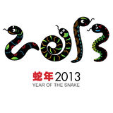 Year of the Snake. A Design Concept of Year of the Snake. It contains hi-res JPG, PDF and Illustrator 9 files Royalty Free Stock Image