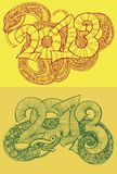 Year of the snake design 2013. Original Vector New Year card. Year of the snake design. Original Vector New Year card. Illustration with place for your text royalty free illustration