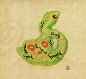 2013 year of the snake. With paper background Stock Photo