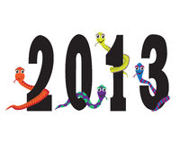 Year snakes. Figures of the new year with the snakes of different colors Stock Photo