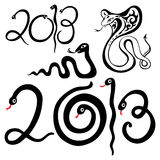 Year snakes symbol. 2013 Year snake symbol. Vector illustration isolated vector illustration