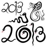Year snakes symbol. 2013 Year snake symbol. Vector illustration isolated Royalty Free Stock Photography