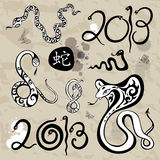 Year snakes symbol set Royalty Free Stock Photography