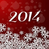 2014 year with snowflakes. Sample Stock Photography