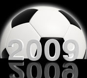 Year of soccer. Fine 3d image of soccer 2009 background Royalty Free Stock Photo