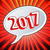 2017 Year speech bubble. Design. Vector illustration Royalty Free Stock Image