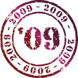 Year stamp. Vector year stamp with red ink vector illustration