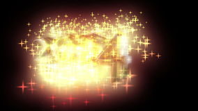 Year 2014 with stars fireworks stock footage