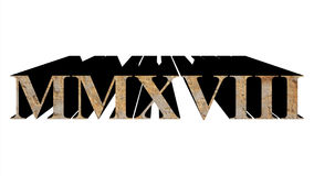 year 2018 in stone in roman numerals isolated over white Stock Images