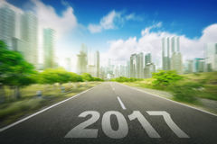 Year 2017 on the street Royalty Free Stock Photo
