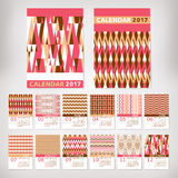 2017 year stylish calendar. Vector illustration Royalty Free Stock Photo
