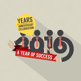 2016 A Year Of Success. 2016 A Year Of Success Vector Illustration Stock Photography