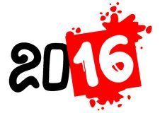 2016 year symbol Stock Image